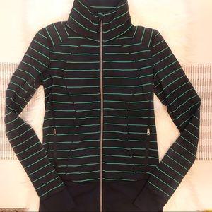 Lululemon Asana Jacket in Slalom Stripe/Inkwell